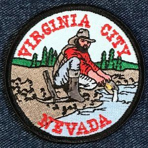 Virginia City, Nevada, souvenir embroidered patch